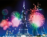 New Year's Celebration in Dubai, the UAE