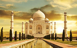 6th place goes to the copy of Indian Taj Mahal