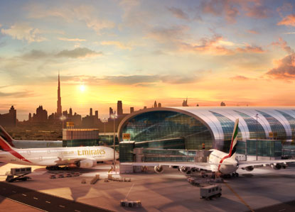 8th place the Dubai Terminal for airliners A380